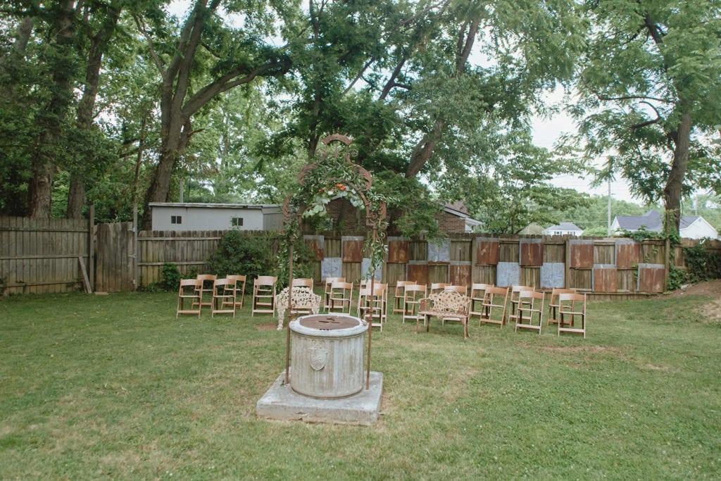 backyard wedding ceremony midway ky