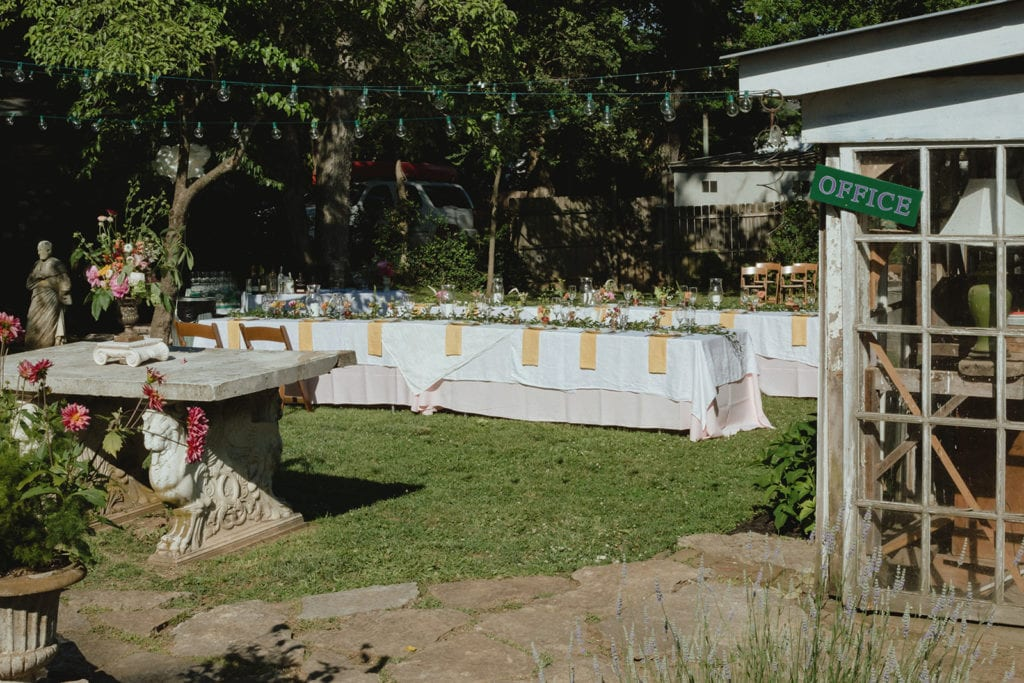 backyard wedding reception midway ky