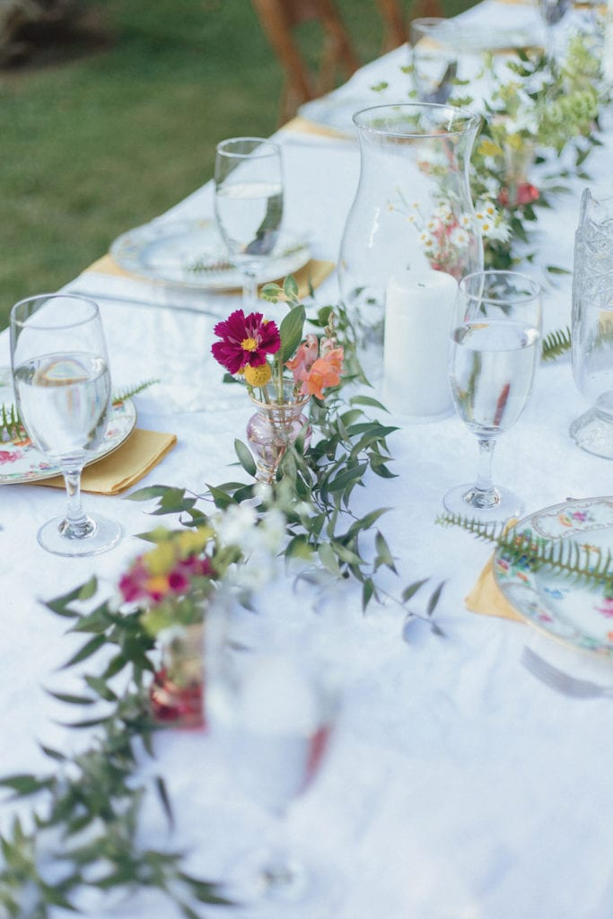 wedding table setting midway ky