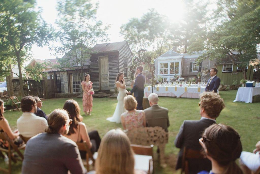intimate backyard wedding ceremony midway ky
