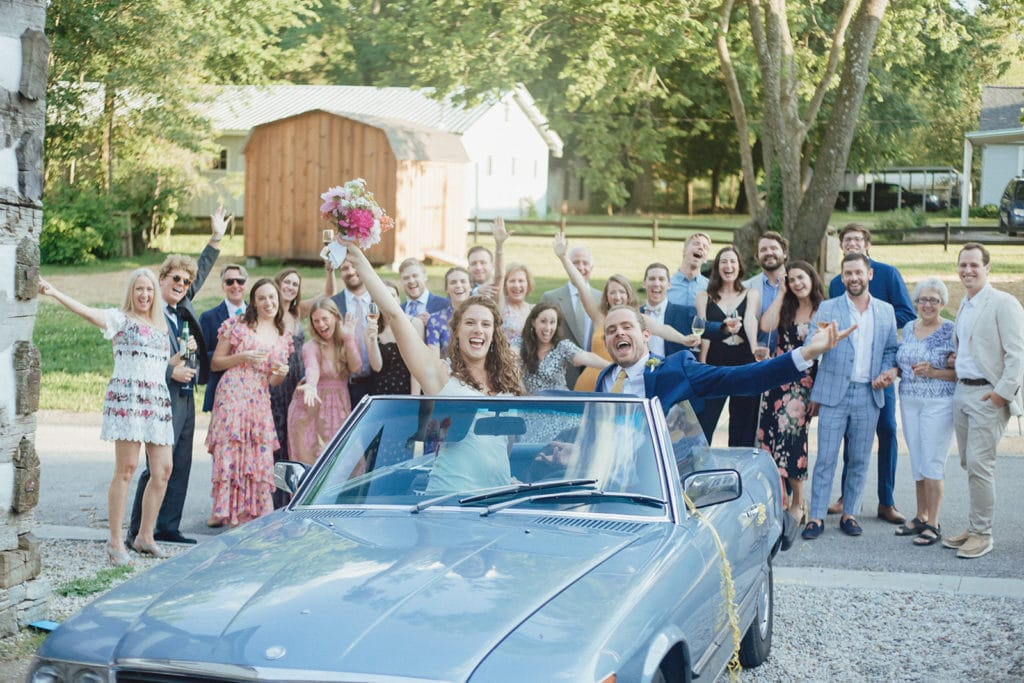 classic car wedding midway ky