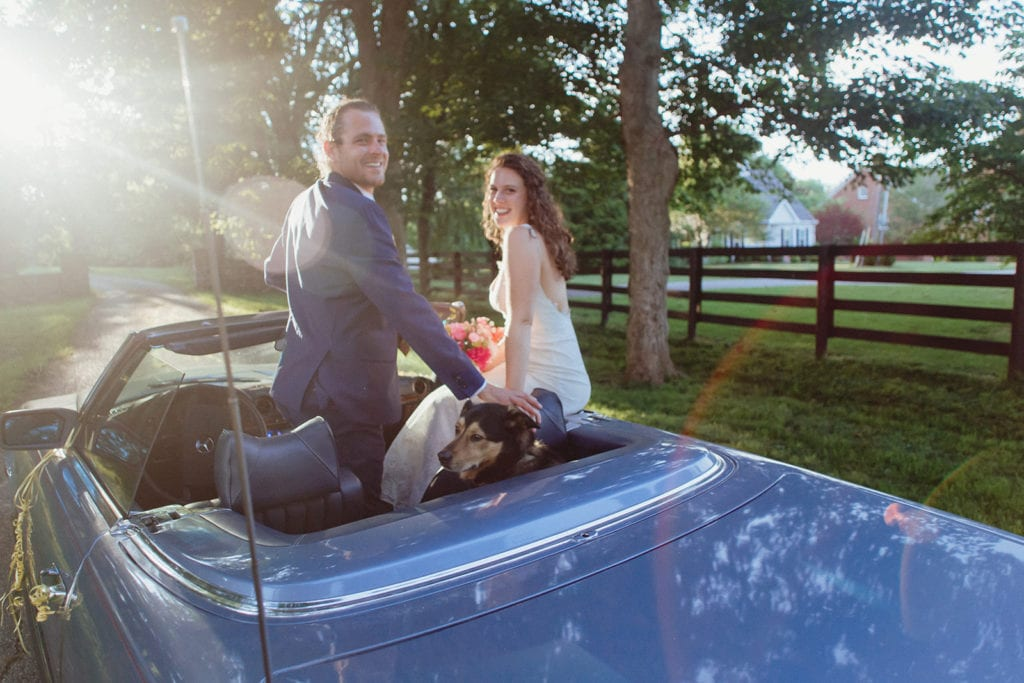 classic car wedding portrait midway ky