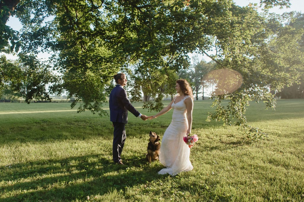 wedding portrait with dog midway ky