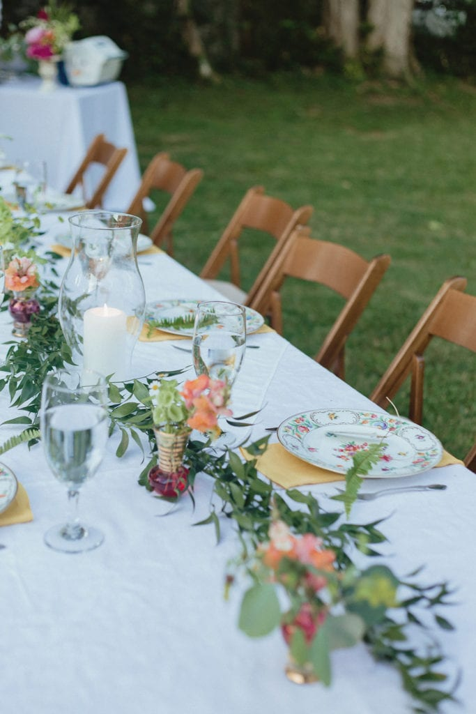 midway ky backyard wedding reception table detail