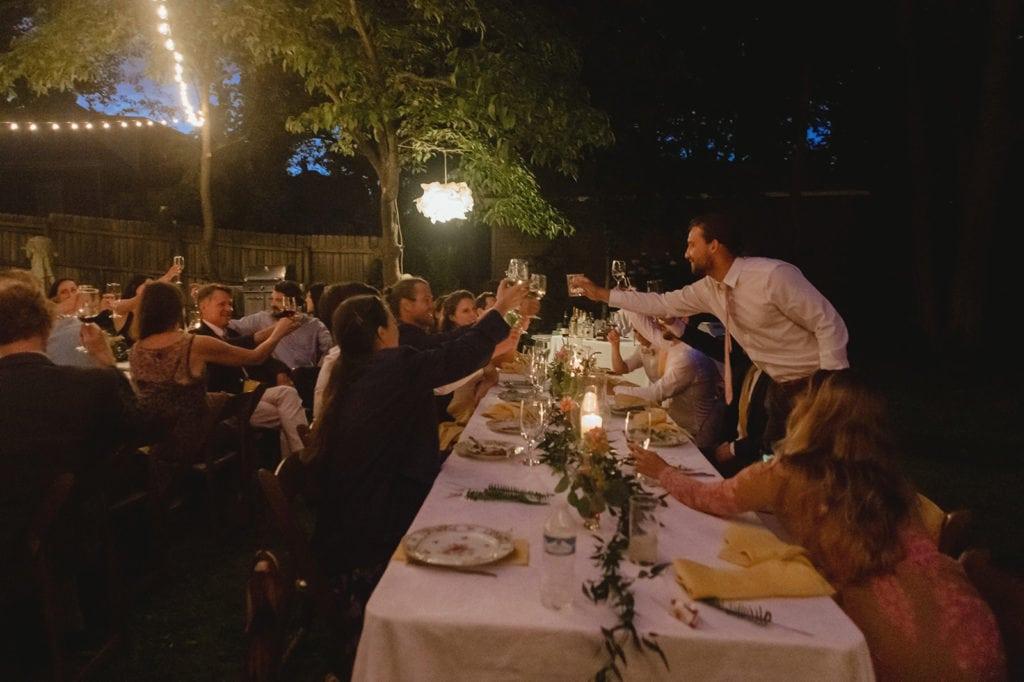 midway ky backyard wedding reception toast