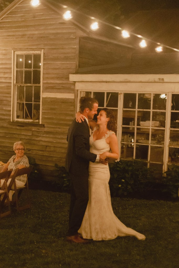 midway ky backyard wedding first dance