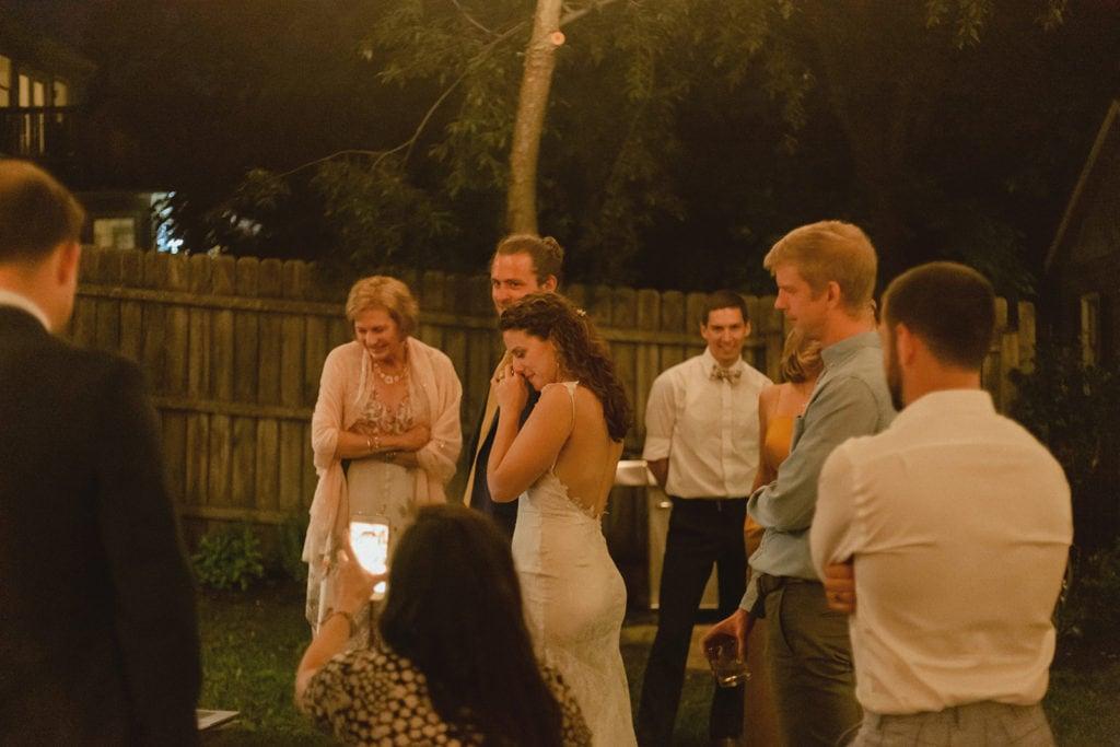 midway ky backyard wedding reception