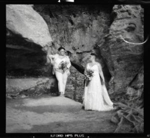 film wedding portrait